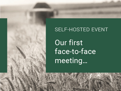 Our first face-to-face meeting…