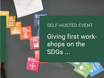Read more about the article Giving first workshops on the SDGs…