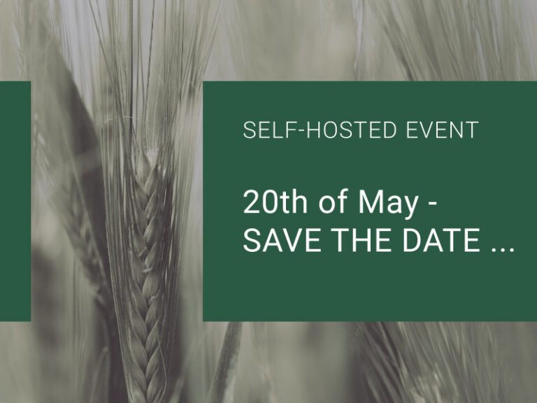 Read more about the article 20th of May – SAVE THE DATE…